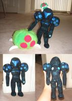 Dark Samus plushie by Eyes5