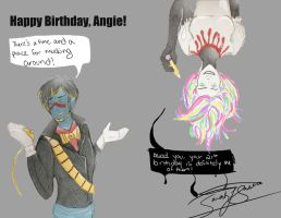 Don't Hug Me I'm Scared Birthday Present for Angie by Nativa-Basco
