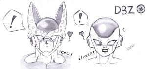Cell And Freezer o_o by RoseBereArtist