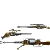 SteamPunk guns by Greenstuff-Alex