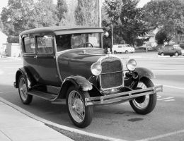 Antique Car bw by KelbelleStock