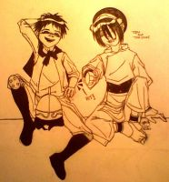 Toph and The Duke by Altros55