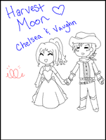 Harvest Moon - IoH Couple by lil-mikoto