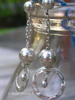 Silver Dangle Earrings by RoyalDescent