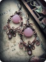 Statement earrings - Victorian style by Lirimaer86