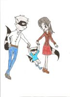 Cooper family with child Sly by HeavensEngel