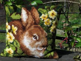 Bunny on the pillow by Yancis