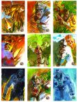 Kong Skull Island Sketch Cards by markmchaley