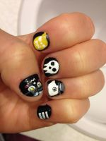 Soul Eater Nails [2] by imagineBeyondReality