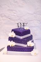 Purple Wedding Cake by SuGaR-AdDIKt