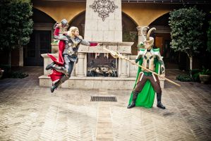 Thor Versus Loki - fight by agfrx7