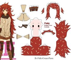 Papercraft' Flaky HTF by FlakyHappyTreeFriend