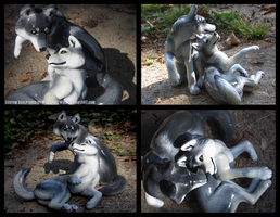 Wolf Lovers - Wedding Topper Commission by WildSpiritWolf