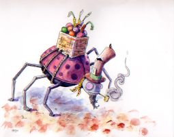 A bug that's hard at work... by Jcoon