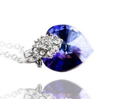 Swarovski Heliotrope Heart Crystal by crystaland