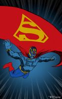 EL Superman by Artist Tom kelly by TomKellyART