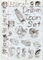 Hand-Drawn Icons by TuxRug