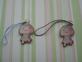 Jelly Fish Cell Phone Charms by AgnesGarbowska