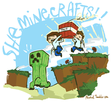 Drawing for Sheminecrafts by peahat