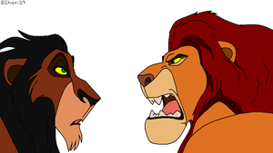 Mufasa and Scar base by sheri37
