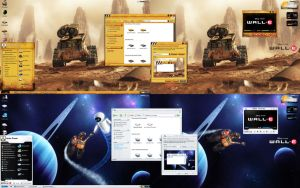 Wall-E Desktop by javierocasio