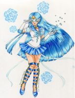 Secret Senshi Exchange:NF's Crystal Sailor Mercury by c-beni