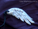Silver Wing Necklace Pendant by Etherpendant