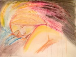 Dreaming Girl finished by Delias-arts