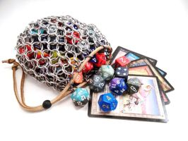 Large Chainmail Dice Bag or Pouch by SerenityinChains