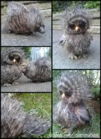 Tiny Totem Creatures - Owl and Porcupine Friends by Heiditruth