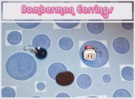 Bomberman Earrings by YellerCrakka