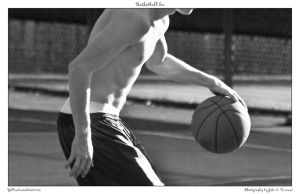 Basketball bw by yellowcaseartist