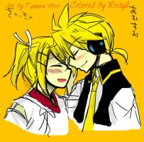 Suou Rin x Blue Moon Len Colored by Me by Rody2