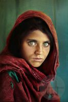 The Afghan Girl by Wanchaleom