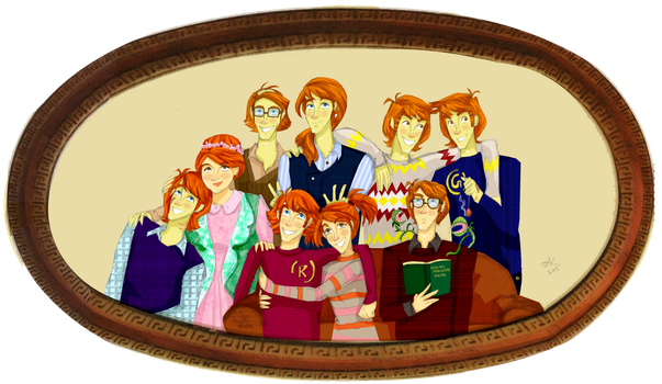 Family of Red Heads by Orchideacae