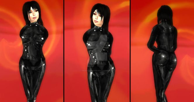 Catsuit-test-renders by MarikoDemonia
