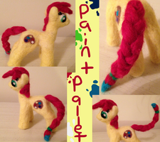 Paint Pallet Needle Felt Pony by the-pink-dragon