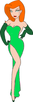 Poison Ivy as Jessica Rabbit by darthraner83