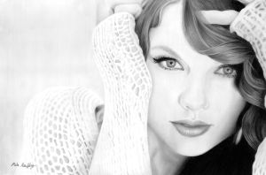 Pencil Drawing of Taylor Swift by theGaffney