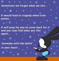 Oswald Reads My Letter by DrawingStar12