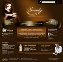 Cosmetic company's site by Vadich