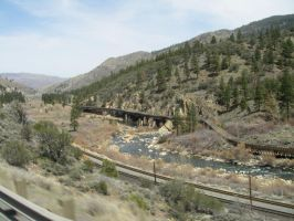 Wooden Bridge I-80 NV by archambers