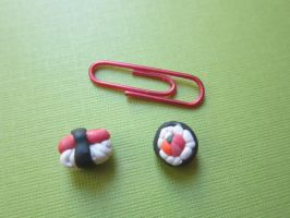 Sushi Earrings by CactusLuv