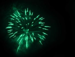 Green Fireworks by AlexCarata