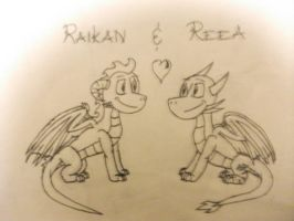 Raikan and Reea by RaikanEarthDragon
