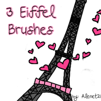 3 eiffel Brushes by alenet21tutos