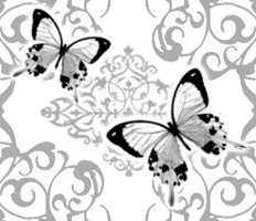 butterfly tiled wallpaper by desness