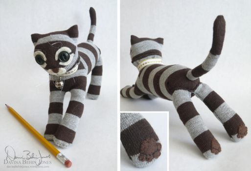 Mitts, the Sock Cat by FamiliarOddlings