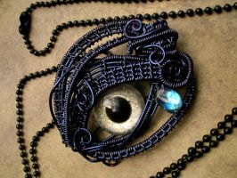 Night Queen - Stormy Eye - Teardrop Pendant by LadyPirotessa