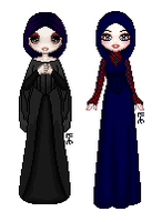 Two More Gothic Dolls by Listener-Liserian